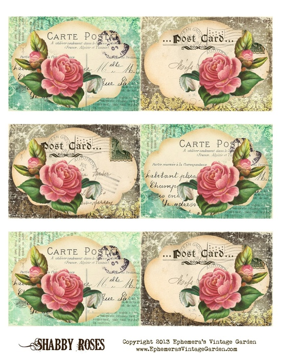 photo about Free Printable Ephemera identified as Ephemeras Basic Yard: Absolutely free Printable - Shabby Rose