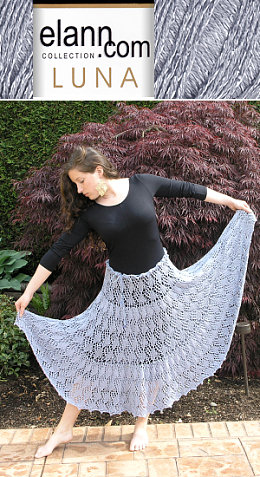 Free Pattern For Lace Skirt Knit From Elann